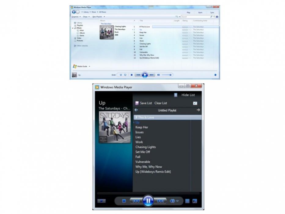 Windows Media Player12, подробности