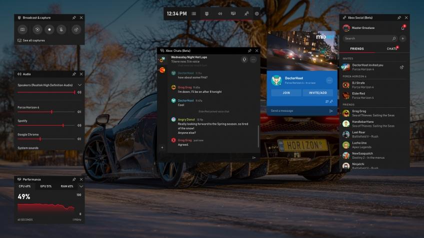 Microsoft поведала о новых возможностях Game Bar на Windows 10