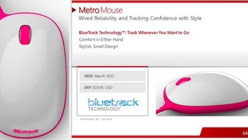 Концептуальная мышка Microsoft Metro утекла в Сеть
