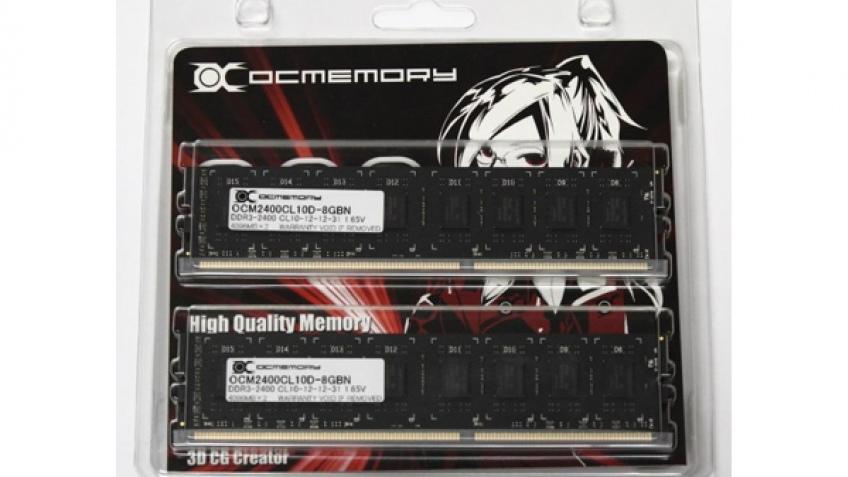 OCMemory выпустила безрадиаторную память DDR3-2400
