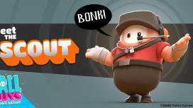 В Fall Guys появится костюм разведчика из Team Fortress2
