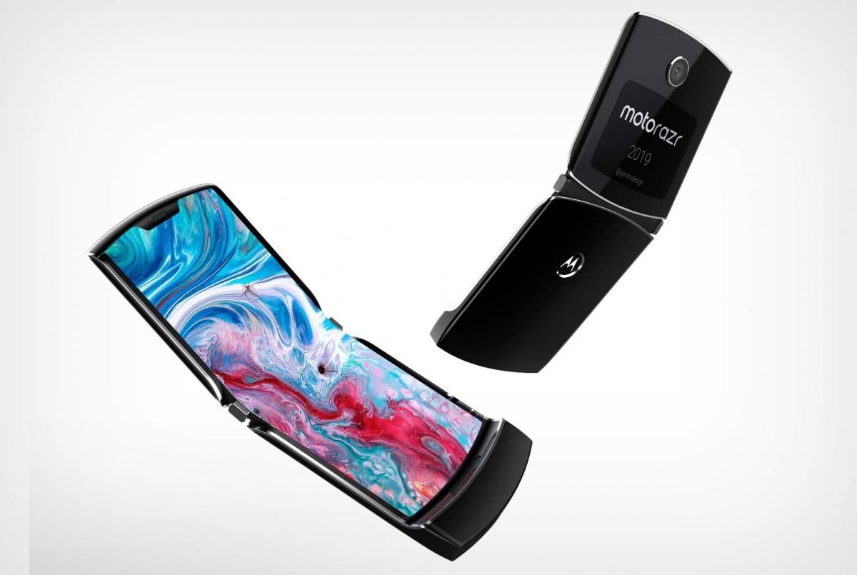 Утечка обнародовала дизайн складного смартфона Moto RAZR 2019