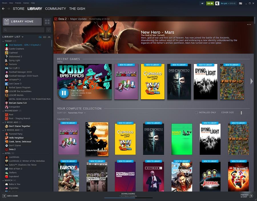 Новые инструменты для обновлённой библиотеки Steam аносированы