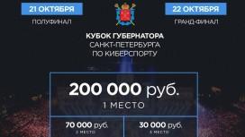 В Санкт-Петербурге пройдет Кубок Губернатора по киберспорту