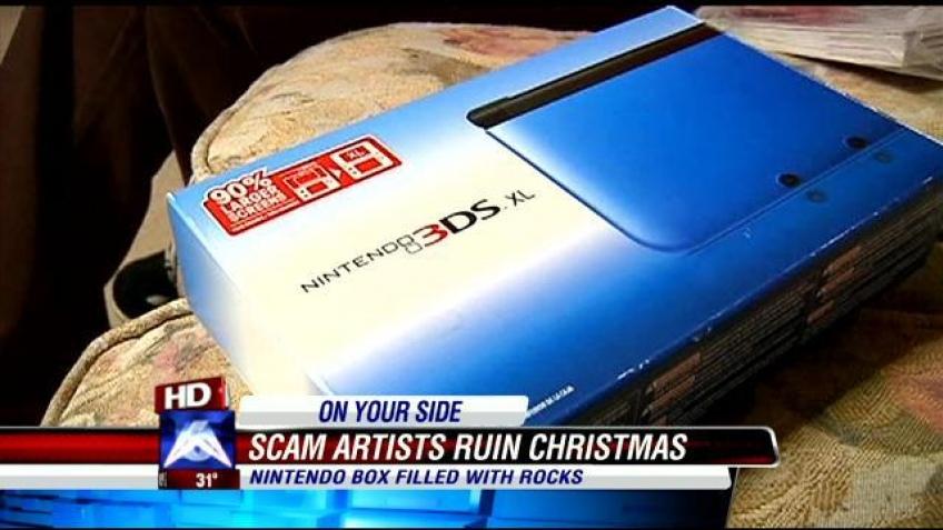 Вместо 3DS американец получил на Рождество коробку с камнями