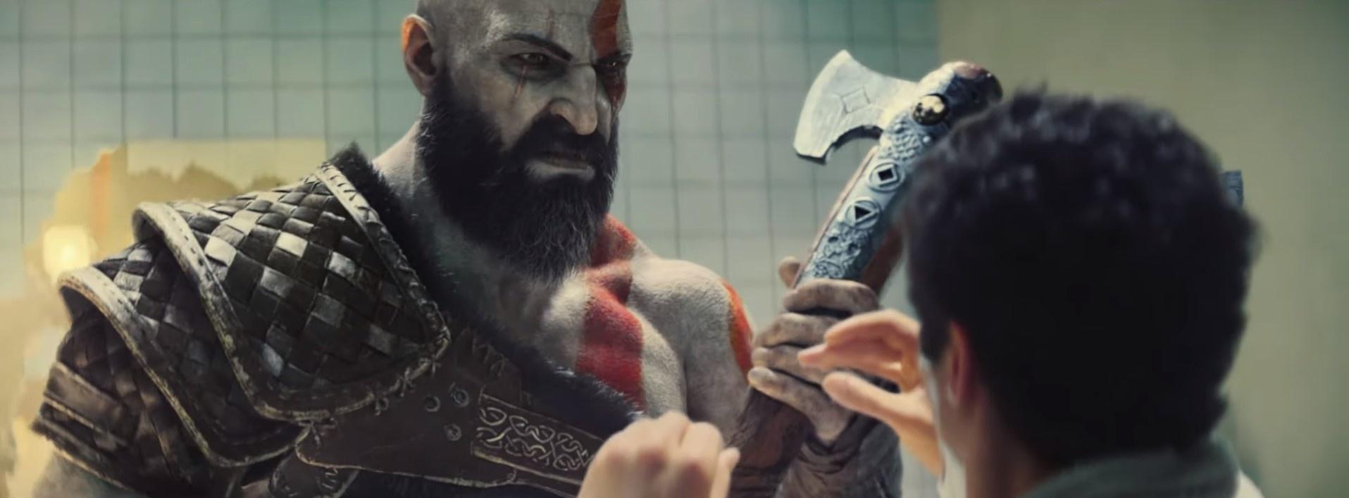 Кратос против бритья: свежая глобальная реклама PlayStation4