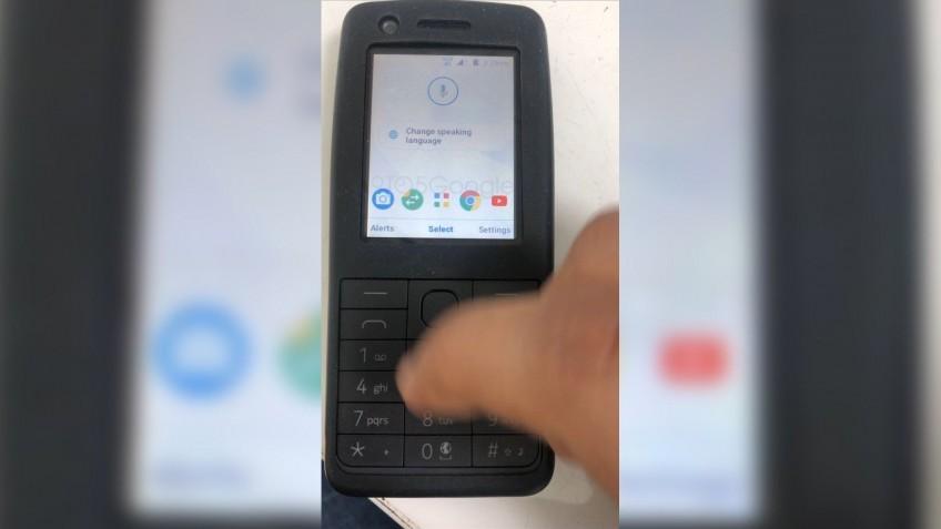 Первое фото неизвестного кнопочного телефона Nokia на Android