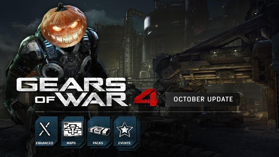Gears of War4 получит две новые карты и ивент в честь Хэллоуина