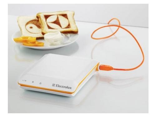 Тост-принтер от Electrolux наносит изображения на тосты