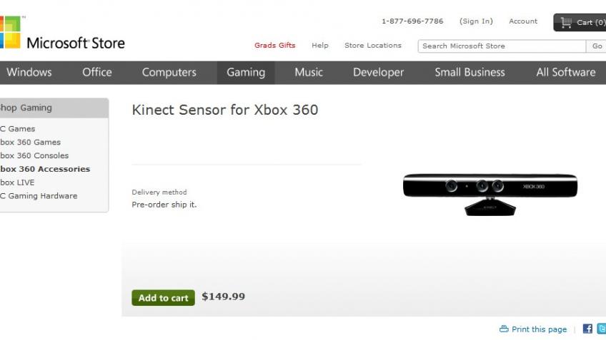 Kinect — дорогое удовольствие