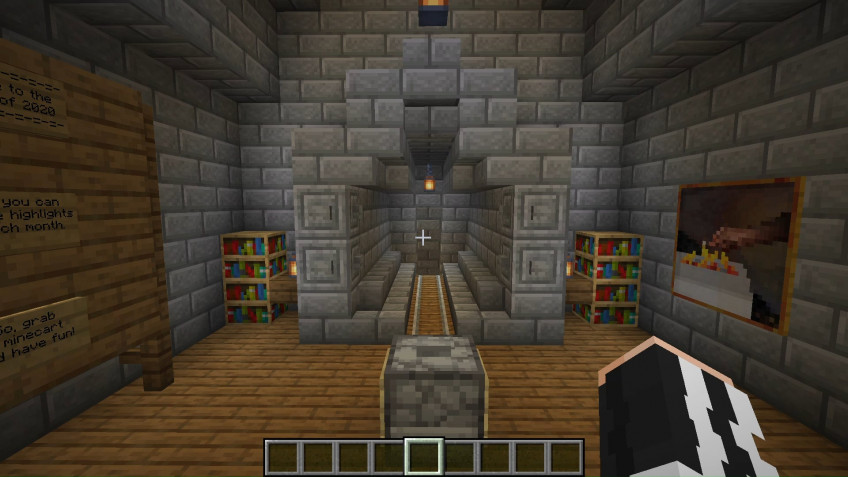 В Minecraft возвели музей 2020 года
