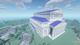 Энтузиаст воссоздал Большой театр из Civilization VI в Minecraft — видео процесса