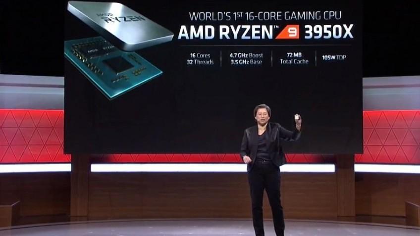 Официально представлен 16-ядерный игровой процессор Ryzen9 3950X