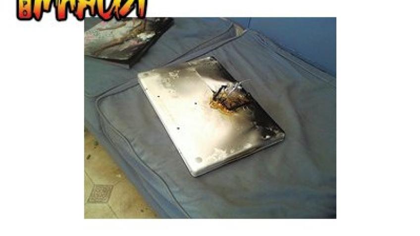 MacBook взлетел на воздух
