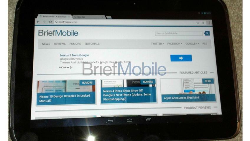 Google Nexus 10: фото и предварительные спецификации