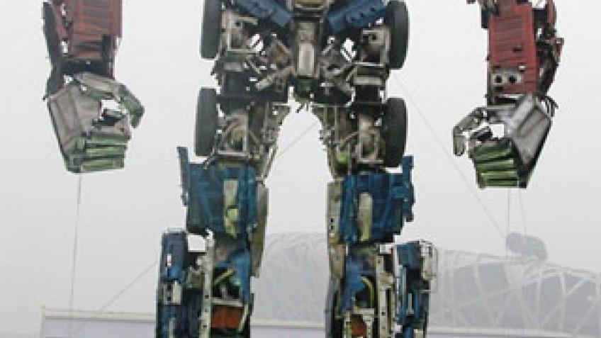 Optimus Prime из мусора