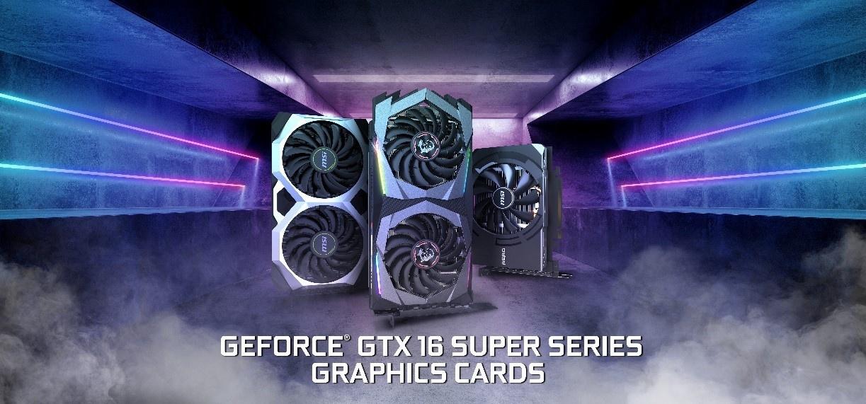 MSI представила целую линейку карт GeForce GTX16 Super