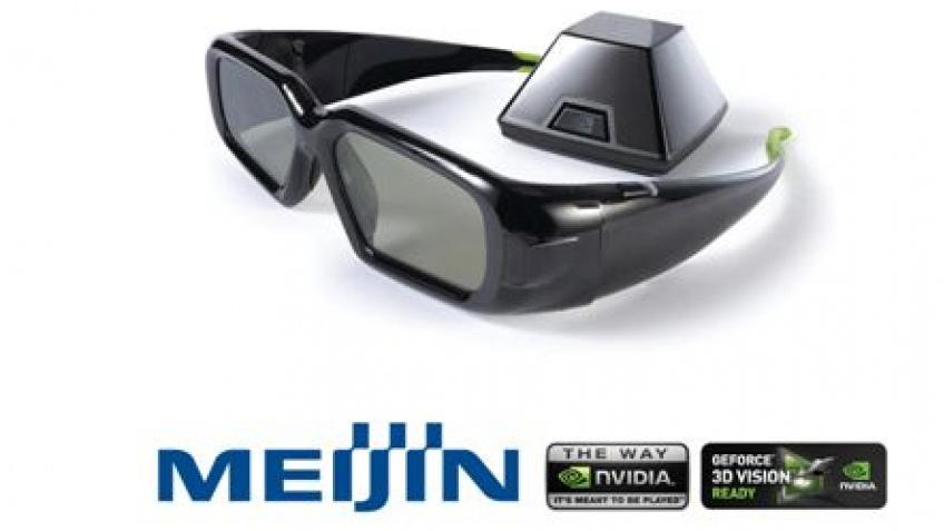 3D очки NVIDIA для каждого игромировца от компании Meijin