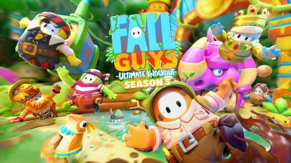 Основной темой пятого сезона Fall Guys стали «джунгли»