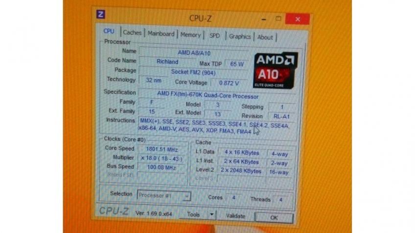 Подробности о процессоре AMD FX-670K