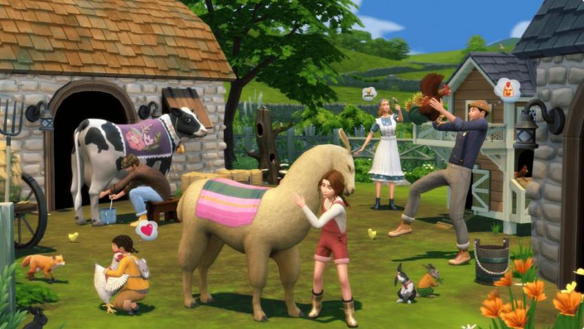 Ламы, куры, коровы и кролики в дополнении «The Sims4 Загородная жизнь»