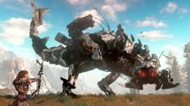 На скриншотах Horizon: Zero Dawn можно увидеть охоту на стальных динозавров