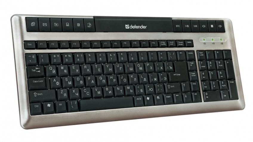 Тонкая клавиатура Defender