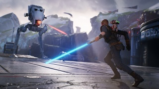 Стример проходит Star Wars Jedi: Fallen Order при помощи игрушечного светового меча