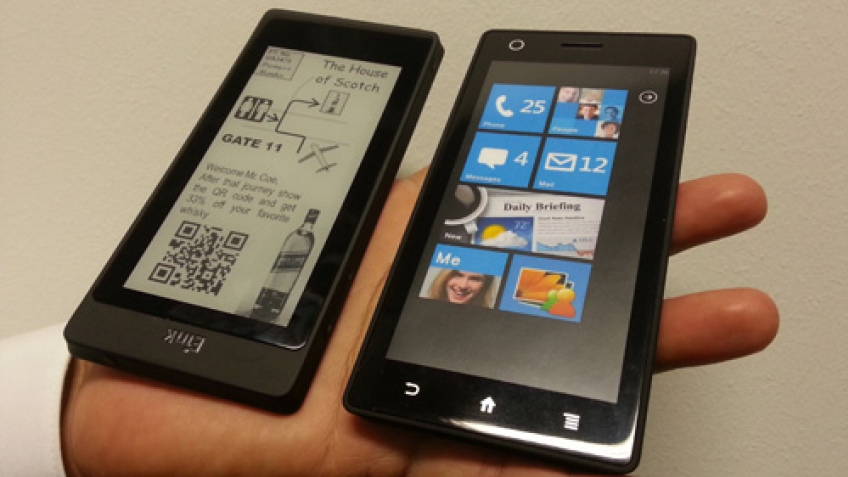 E Ink показала гибрид смартфона и электронной книги