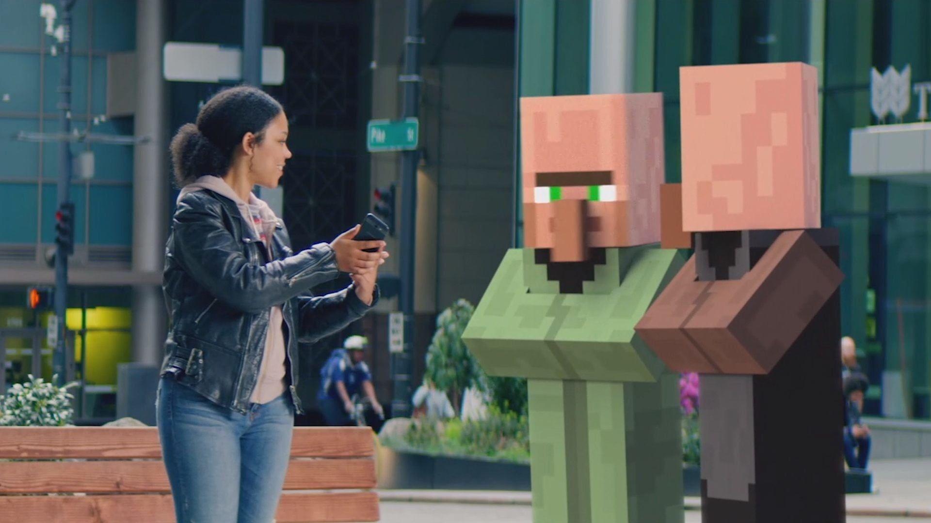 В Minecraft Earth можно сжечь друзей вместе с домом