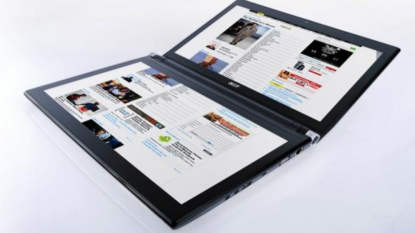 Acer готовится начать продажи ноутбука с двумя дисплеями