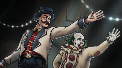 Карточный баттлер The Amazing American Circus теперь выходит16 сентября