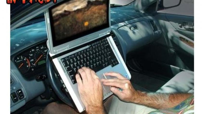 Ноутбук на руле