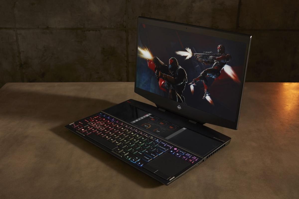 HP представила игровой ноутбук HP Omen X 2S с дополнительным экраном