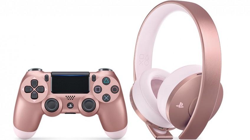 Осенью Sony выпустит четыре новых цвета для DualShock4 и розово-золотую гарнитуру