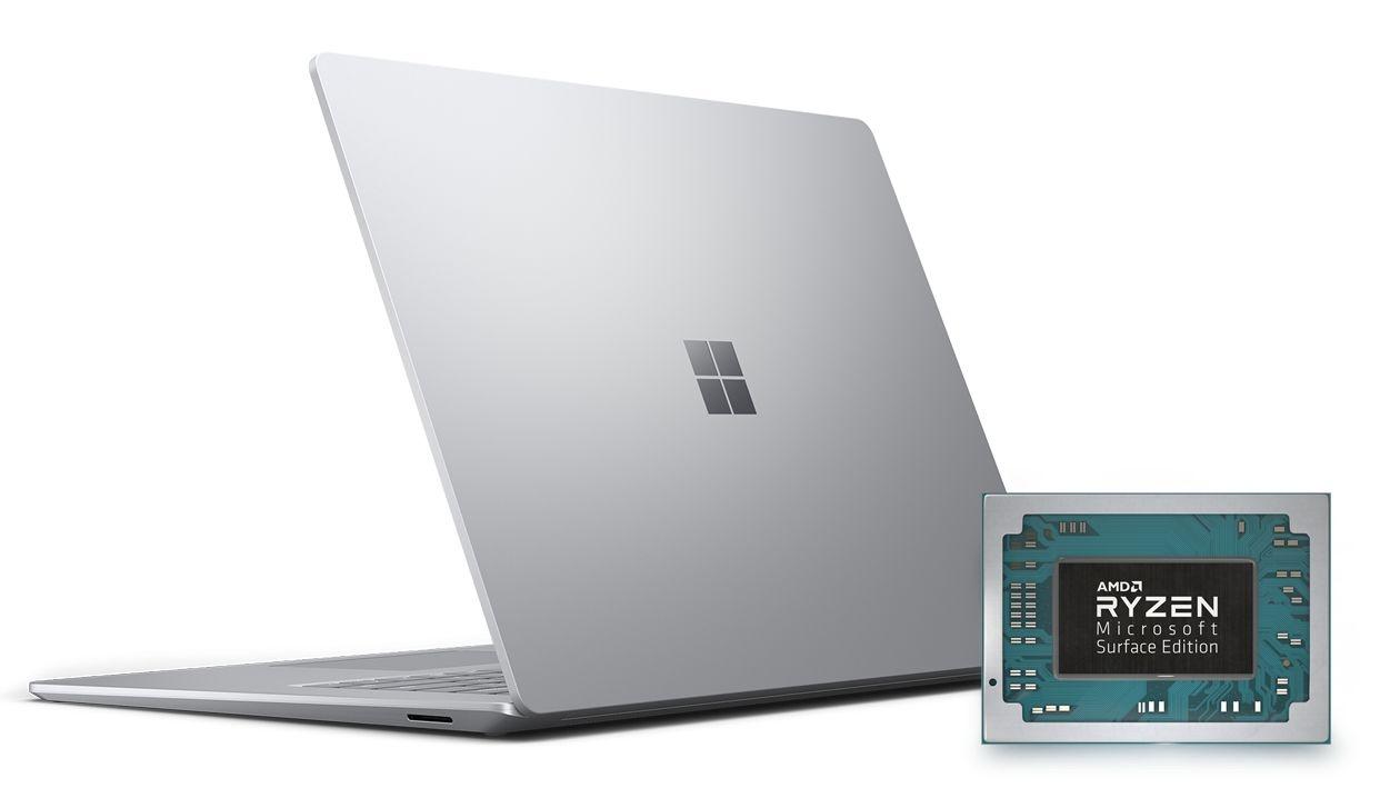 Ноутбук Surface Laptop3 построен на процессорах AMD с мощной графикой