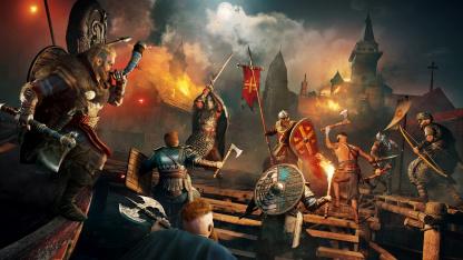 В сеть утекло ещё7 минут Assassin's Creed Valhalla — битва с боссом