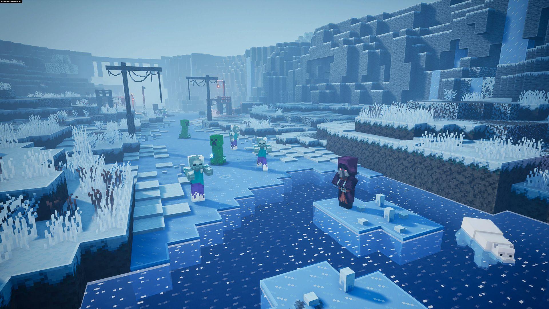 Трейлер к выходу дополнения Creeping Winter для Minecraft Dungeons