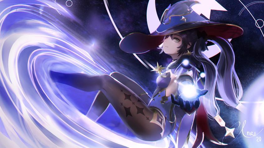 Астролог Мона из Genshin Impact вечно сидит без денег