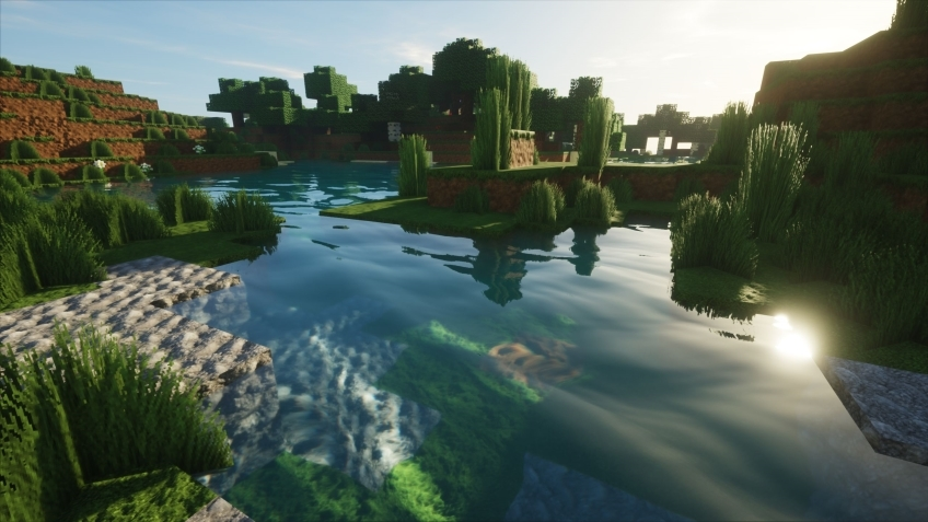 Моддер добавил в Minecraft реалистичные освещение и отражения