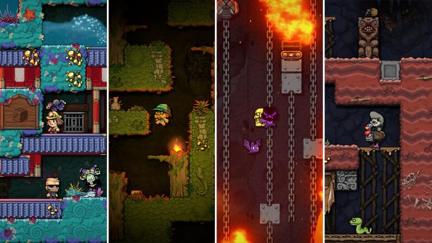 Игрок Spelunky2 побил мировой рекорд по количеству собранного золота