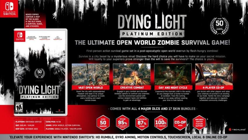 Платиновое издание Dying Light выпустят на Nintendo Switch1
