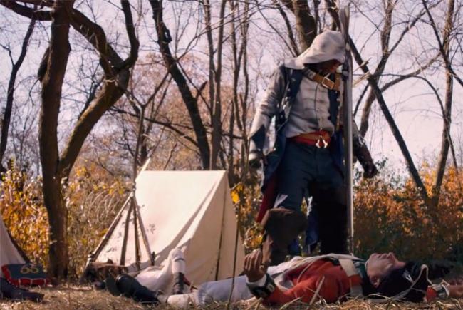 Коннор убивает британцев в любительской экранизации Assassin's Creed3