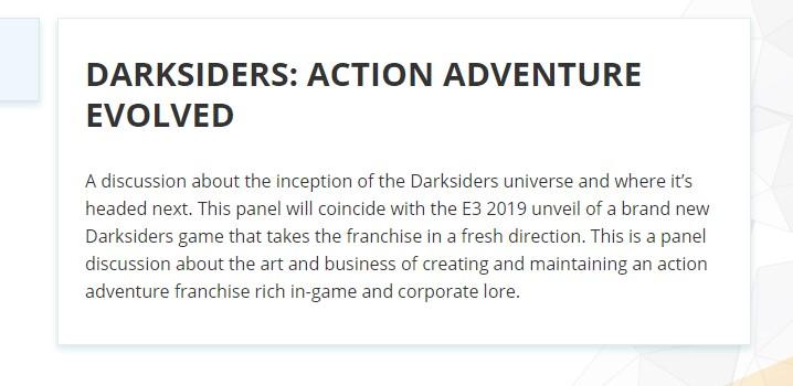Второй новой игрой THQ Nordic на Е3 2019 станет следующая Darksiders