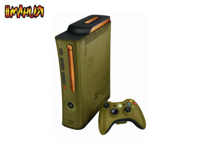 Xbox 360 в зеленом