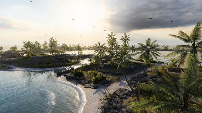 Скриншот тихоокеанской карты из Battlefield V1