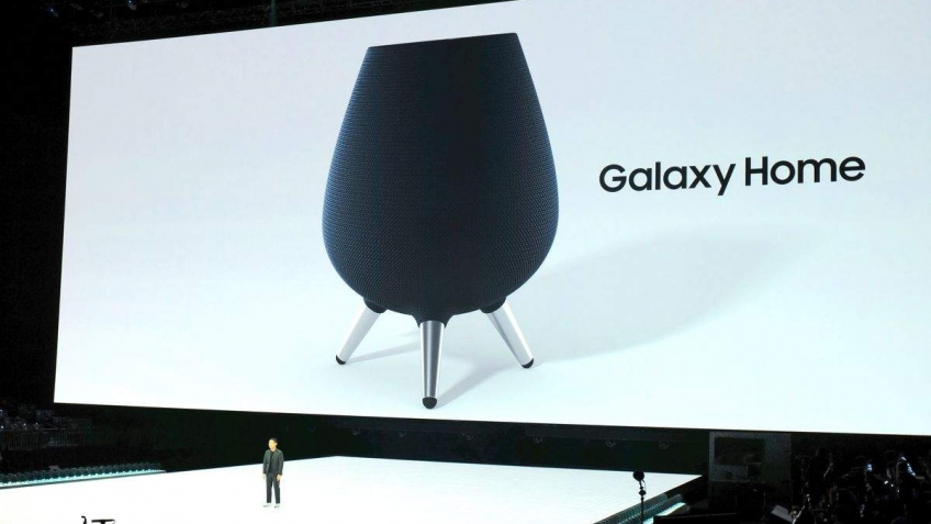 Samsung представила умную колонку Galaxy Home с помощником Bixby