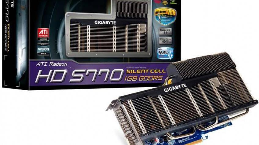 Gigabyte охлаждает Radeon HD 5770 без вентилятора