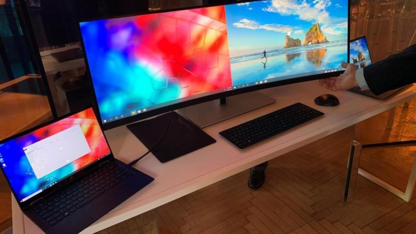 HP показала гигантский изогнутый 4K-монитор, способный заменить два дисплея
