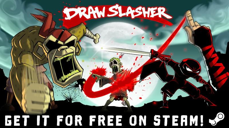В Steam раздают однокнопочную убивалку Draw Slasher